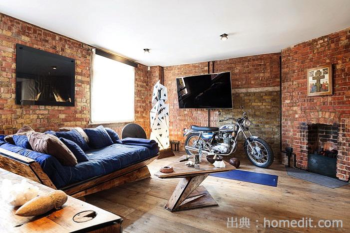 ヴィンテージ感のある部屋の写真