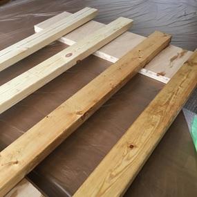 使用する木材の写真