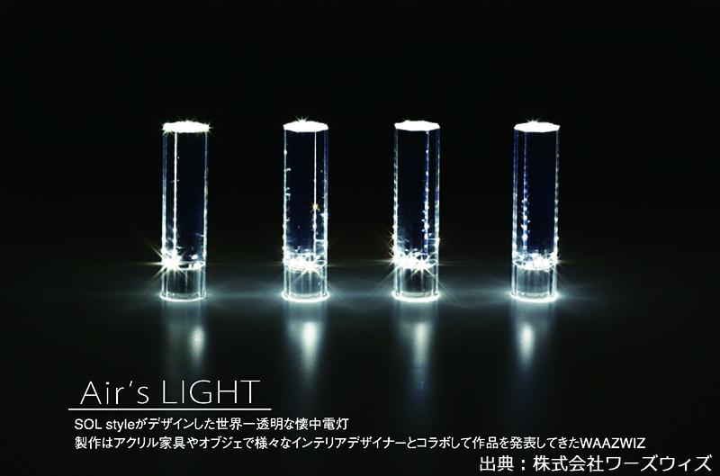 透明な懐中電灯のイメージ画像