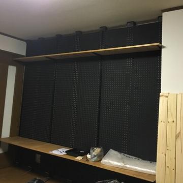 壁立てDIYの完成写真