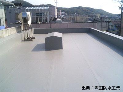 防水塗装工事の完了写真