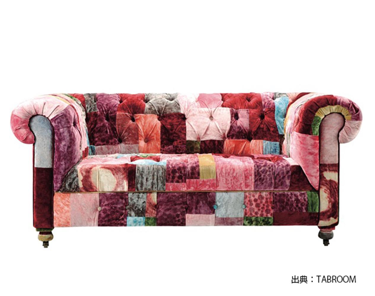 簡単に生地の張替ができないソファの例