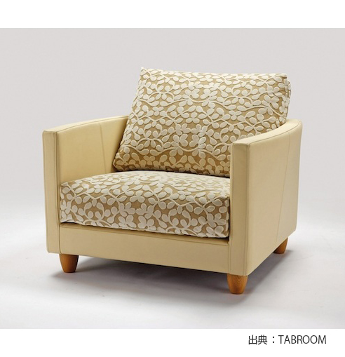 生地の張り替えやすいソファの例