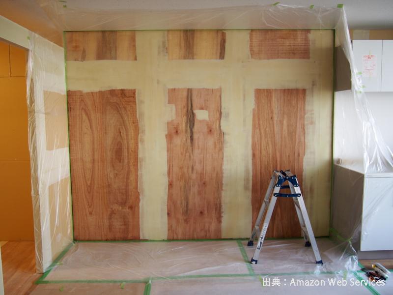 壁の塗り方イメージ写真