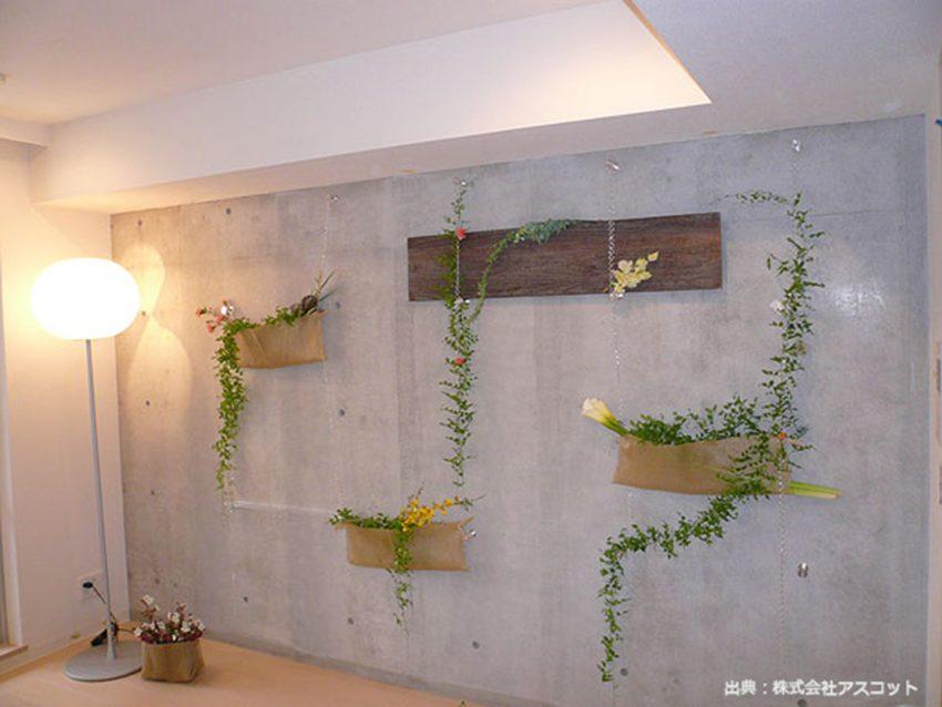 コンクリート壁のデコレーション写真