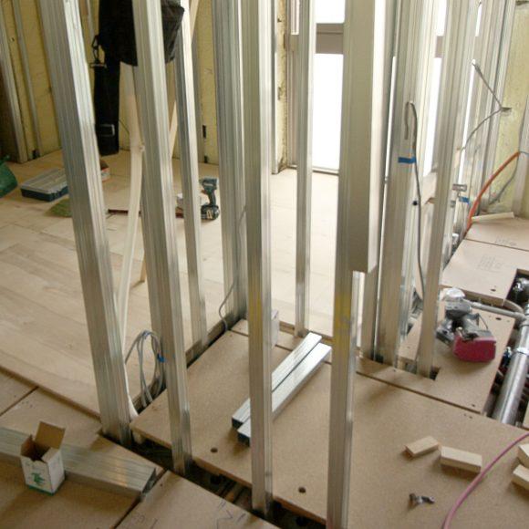 リフォーム工事中の部屋